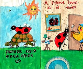 Ladybug journal pages